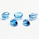 Ovaler Topas Swissblue Cabochon 7x5mm 1.26ct