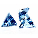 Topas Dreieck London-Blau 4x4mm 0.2ct