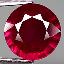 Runder Rubin Rot 10.7x10.7x6.5mm 6.67ct