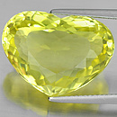 Herz Quarz Lemon 20x15.2x9mm 16.75ct