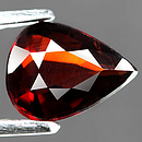 Spessartin Tropfen Rot-Orange 7.8x6.1x3.0mm 1.20ct