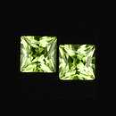 Square Peridot Princesscut Grün 5x5mm 0.40ct
