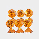 Runder Saphir Orange 2.5mm 0.07ct
