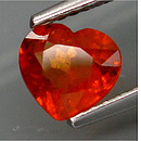 Spessartin Herz Orange 6.7x6.1x3.1mm 1.09ct