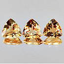 Triangle Citrin Gelb Medium 9x9mm 1.96ct