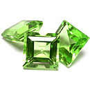 Square Peridot 5x5mm 0.62c5