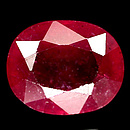 Ovaler Rubin Rot 10.6x8.6x5.7mm 5.10ct