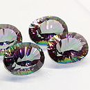 Ovaler Topas Mystic-Rainbow 16x12mm 9.95ct
