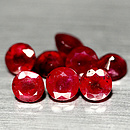Runder Rubin Rot 6.1-6.4mm 11.63ct Lot