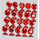 Runder Saphir Rot 1.2mm 0.09ct