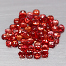 Runder Saphir Rot 2.8x2.8x1.8mm 0.12ct