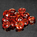 Runder Saphir Rot 3.2x3.2x2.1mm 0.17ct