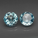 Runder Topas Sky Blue 12mm 6.9ct
