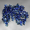 Square Saphir Blau 1.5x1.5x1.1mm 0.04ct