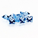 Square Topas Swiss Blue 3x3mm 0.19ct PC