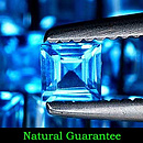 Square Topas Swissblue 3x3x1.8mm 0.16ct