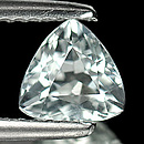 Triangle Aquamarin Weiss 6.4x6.3x4mm 0.76ct