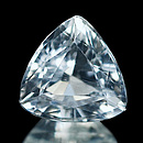 Triangle Aquamarin Weiss 6.6x6.6x4.4mm 1.01ct