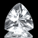 Triangle Aquamarin Weiss 8.1x8x4.6mm 1.28ct