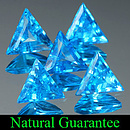 Triangle Topas Swiss Blue 6x5.5x2.5mm 0.41ct