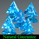 Triangle Topas Swiss Blue 7x6x2.7mm 0.56ct