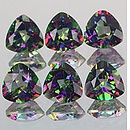 Trillion Topas Mystic Rainbow 6x6mm 0.96ct