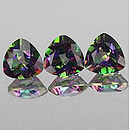 Trillion Topas Mystic Rainbow 7x7mm 1.6ct